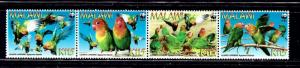 Malawi 751 MNH 2009 Birds strip of 4