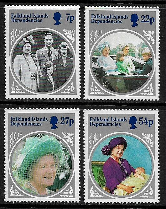Falkland Is Dep #1L92-5 MNH Set - Queen Mother's Birthday