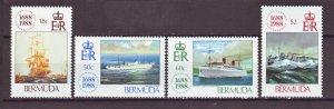 J22393 Jlstamps 1988 bermuda set mlh #541-4 ships
