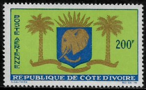 Ivory Coast #C28 MNH Stamp - Arms of Republic
