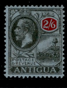 ANTIGUA GV SG59, 2s 6d black and red/blue, M MINT. Cat £19.