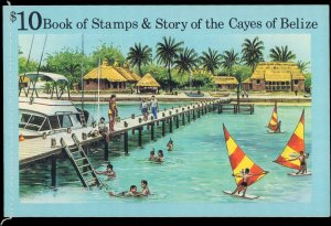 1984 Belize - Cayes of Belize #8a, Complete Set, Souvenir Booklet, Never Hinged
