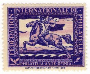 (I.B) Switzerland Cinderella : FIP Anniversary Stamp