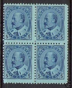 Canada #91 Mint Block