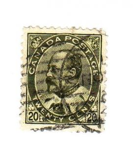 Canada Sc 94 1903 20c Edward VII stamp used