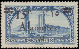 1926 Alaouites #45, Incomplete Set, Hinged