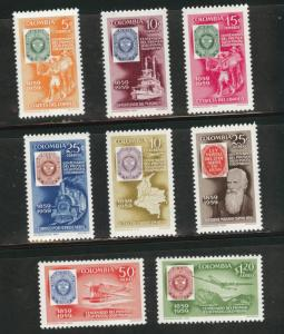 Colombia Scott 709-712,C351-354  MNH** set CV$5