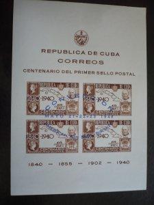 Stamps - Cuba - Scott# C39 - Souvenir Sheet
