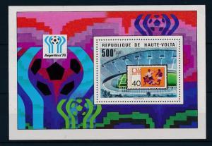 [43642] Burkina Faso Uppervolta 1978 Sport World Cup Soccer Argentina MNH Sheet