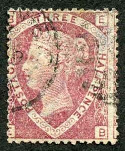 SG51 1 1/2d Plate 3 (EB) Wmk Large Crown Fine Used