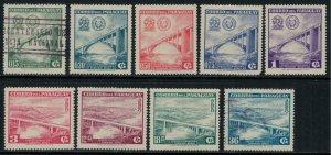Paraguay #572-6,C274-7*/u  CV $6.75  (few no gum)