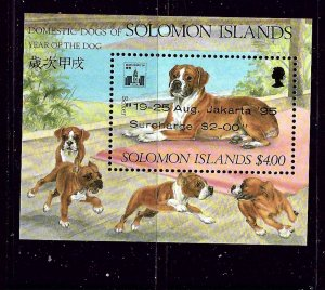 Solomon Is 771a MNH 1995 Dogs overprint on S/S (sold only at Exhibition_