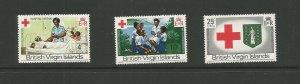 British Virgin Islands,1970 Centenary Of British Red Cross UMM Set SG 260/2