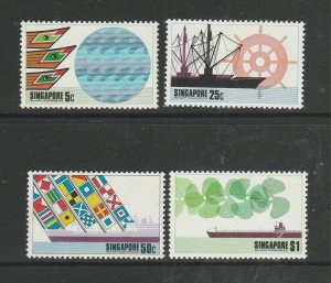 Singapore 1975 Ports & Harbours MM SG 249/52