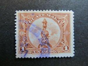 A4P10F30 Guatemala 1924 1p used