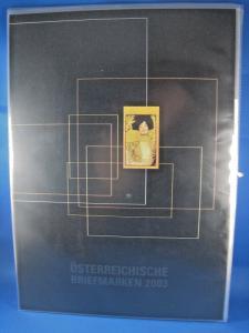AUSTRIA 2003 YEAR SET OF STAMPS IN SOUVENIR FOLDER   (brig)