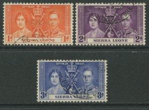 STAMP STATION PERTH Sierra Leone #170-171 Coronation Issue 1937 FU
