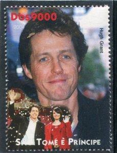 Sao Tome & Principe 2004 HUGH GRANT English Actor 1v Perforated Mint (NH)