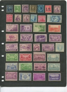 STAMP STATION PERTH USA Early Selection of 38 Stamps Unchecked Mint -Lot 7