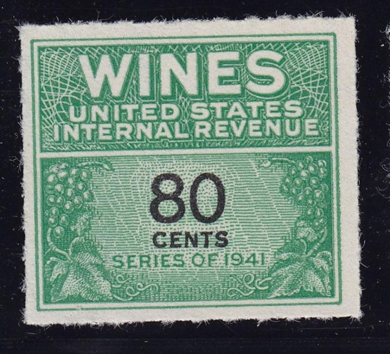 RE142 VF-XF Wine revenue stamp unused with nice color cv $ 350 ! see pic !