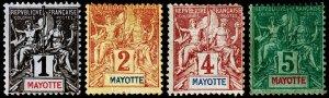 Mayotte Scott 1-4 (1892) Mint H G-F, CV $10.45 C
