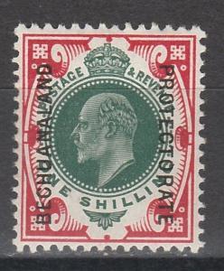 BECHUANALAND 1904 KEVII 1/- GREEN & SCARLET