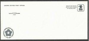 Unused US PO Official Business P-194 Env. w/ Bicentennial Cachet - I Combine S/H