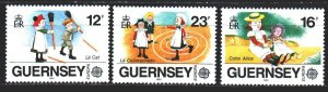 Guernsey. 1989. 449-51. Children's games, toys, europe-sept. MNH.