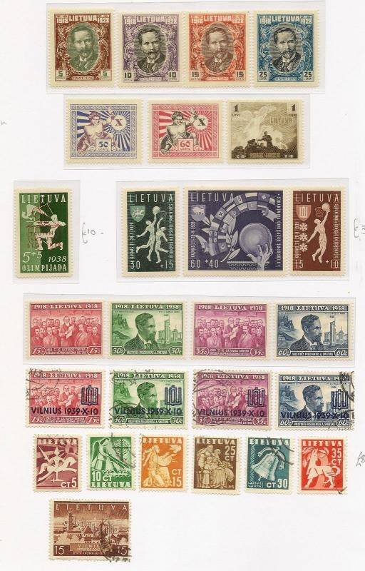 Lithuania & Estonia Collection on Pages