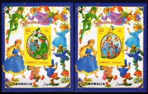 Somalia 2002 Pinocchio & Snow White-Peter Pan & Alicia in Wonderland 2 SS IMPERF