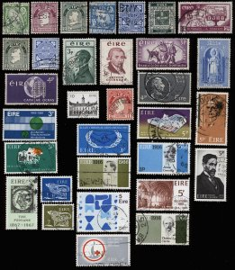 IRELAND Nice Collection of 32 Used Stamps-CV>$37 Mostly 20s-60s-Inc Sc 67,76,107