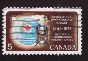 Canada Scott 481 Used Rain Gage stamp typical cancel