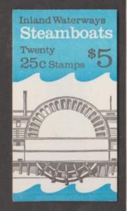 U.S. Scott #2409a BK166 Steamboats Stamps - Mint NH Booklet