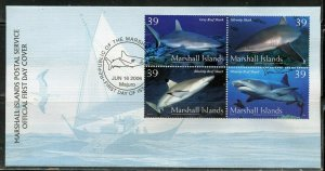 MARSHALL ISLANDS 2006 SHARKS SET FIRST DAY COVER