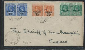 CAYMAN ISANDS (P1706B) 1918 KGV   6 STAMP FRANK  WAR TAX TO ENGLAND