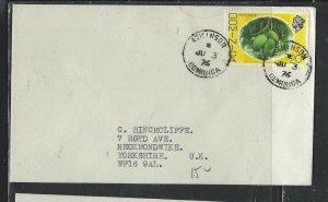 DOMINICA COVER (P1902B) 1976 QEII 20C  ATKINSON  TO ENGLAND