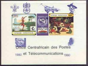 Central African Republic 1980 opt on 1970 'Knokphila 70' ...