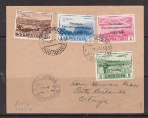 German Occupation Of Montenegro #3NC1 - #3NC4 Very Fine Used On Cover To Cetinj