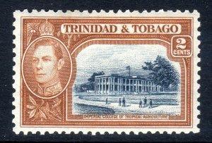 TRINIDAD  AND TOBAGO  --  1938-44  --SG  247  2 cents  mm