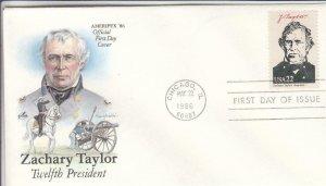 1986, Zachary Taylor, Artcraft, FDC (D13165)