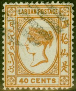 Labuan 1893 40c Brown-Buff SG47a Fine Used (2)