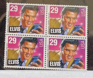 US 1993 Elvis Presley #2721 Block of 4