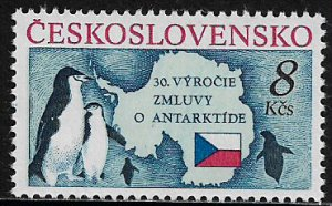Czechoslovakia #2827 MNH Stamp - Antarctic Treaty