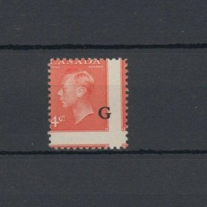 dramatic mis-perf MNH 4 stamps 4c G overprint GEorge VI post postes Canada mint