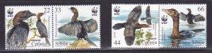 Serbia MNH 542a-d Birds