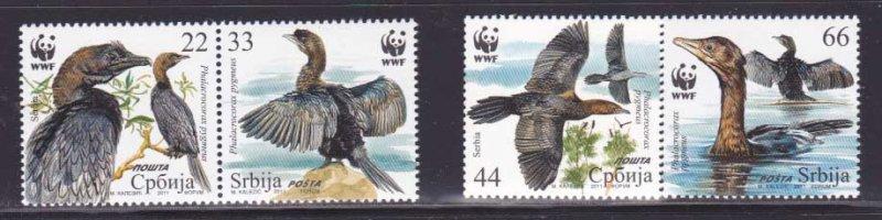 Serbia MNH 542a-d Birds Fauna Must See!!!!!