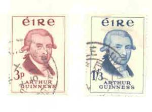 Ireland Sc171-2 1959 Guiness Brewery stamp set used