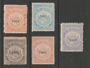 El Salvador Revenue Fiscal Stamp 11-28-20-5f as seen