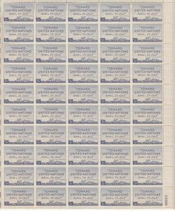Stamp US Sc 0928 Sheet 1945 United Nations Conference San Francisco MNH