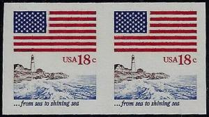 1891a - Xf-Sup Imperf Error / EFO Pair Mint NH